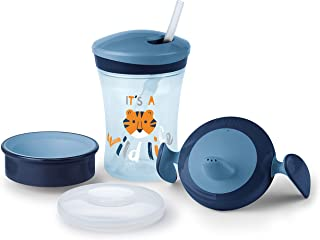 NUK Learn to Drink Set, Wild Life Tiger, 6m+