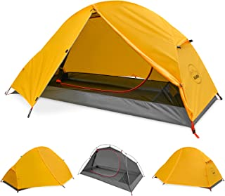 KAZOO Waterproof Backpacking Tent Ultralight 1 Person Lightweight Camping Tents 1 People Hiking Tents Aluminum Frame Double Layer (Eco-Friendly Fabric)