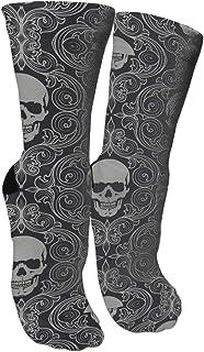 靴下 抗菌防臭 ソックス ファッションクールスカルパトロールアスレチックスポーツソックス、旅行&フライトソックス、塗装アートファニーソックス30 cmロング靴下