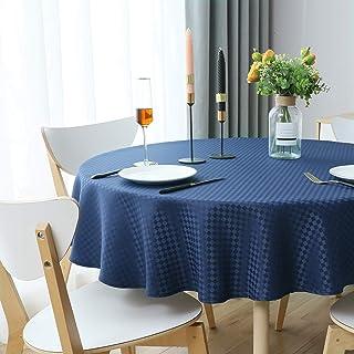 WELTRXE Duk, rutig bordsduk av polyester lotuseffekt, fläckskydd bordsdekoration tvättbar bordsduk lättskött bordsduk, 150...