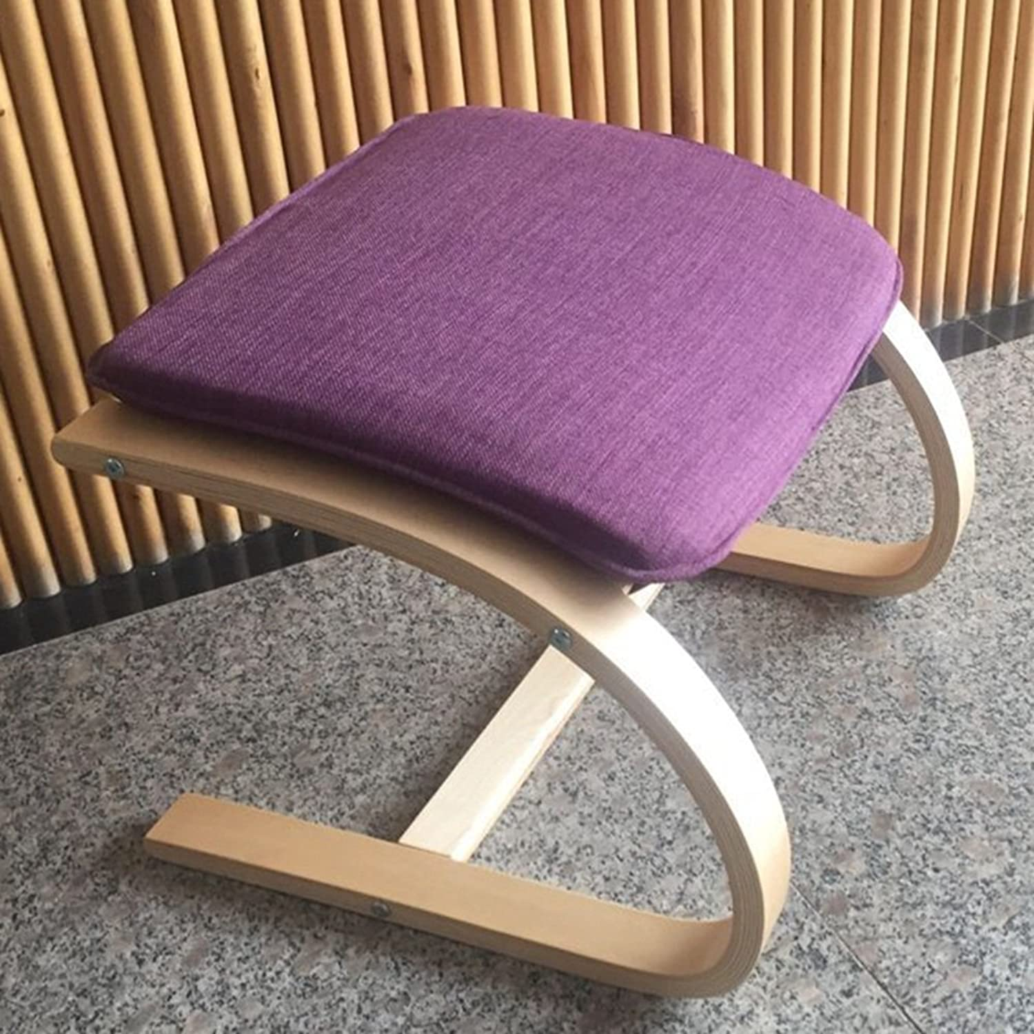 Small Round stool stool Foot Foot stool Casual stool Chaise Longue Companion Foot stool (color   Purple)