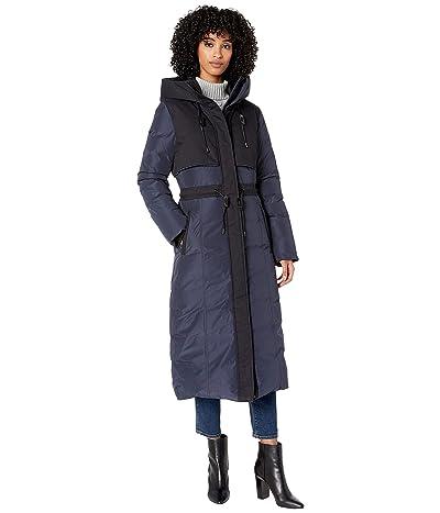 MACKAGE Leanne Classic Hooded Heavy Down Coat (Navy) Women