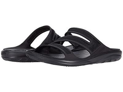 Crocs Swiftwater Telluride Sandal (Black/Black) Women