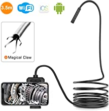DEPSTECH Wireless Inspection Camera, 2.0 MP HD WiFi Borescope Waterproof Endoscope, 16 inch Focal Distance Snake Camera with Phone Holder and Magical Claw for Android & iOS Smartphone Tablet