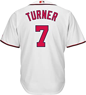 Trea Turner Washington Nationals White Youth Cool Base Home Replica Jersey