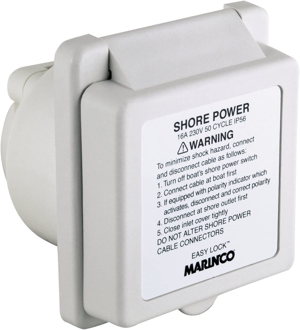 Marinco Max 71% OFF 16A 230V Easy Lock NEW before selling Sta Glass-Filled Watertight Polyester