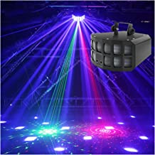 أضواء طرفية RGB للحفلات أضواء المسرح بمصابيح LED تعمل بالصوت لتشغيل الديسكو من دي جي معدات ستروب لإنارة المسرح، مثالية لحف...