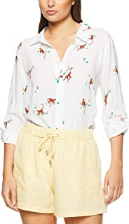 French Connection Women's Monkey Printed Shirt, Multi