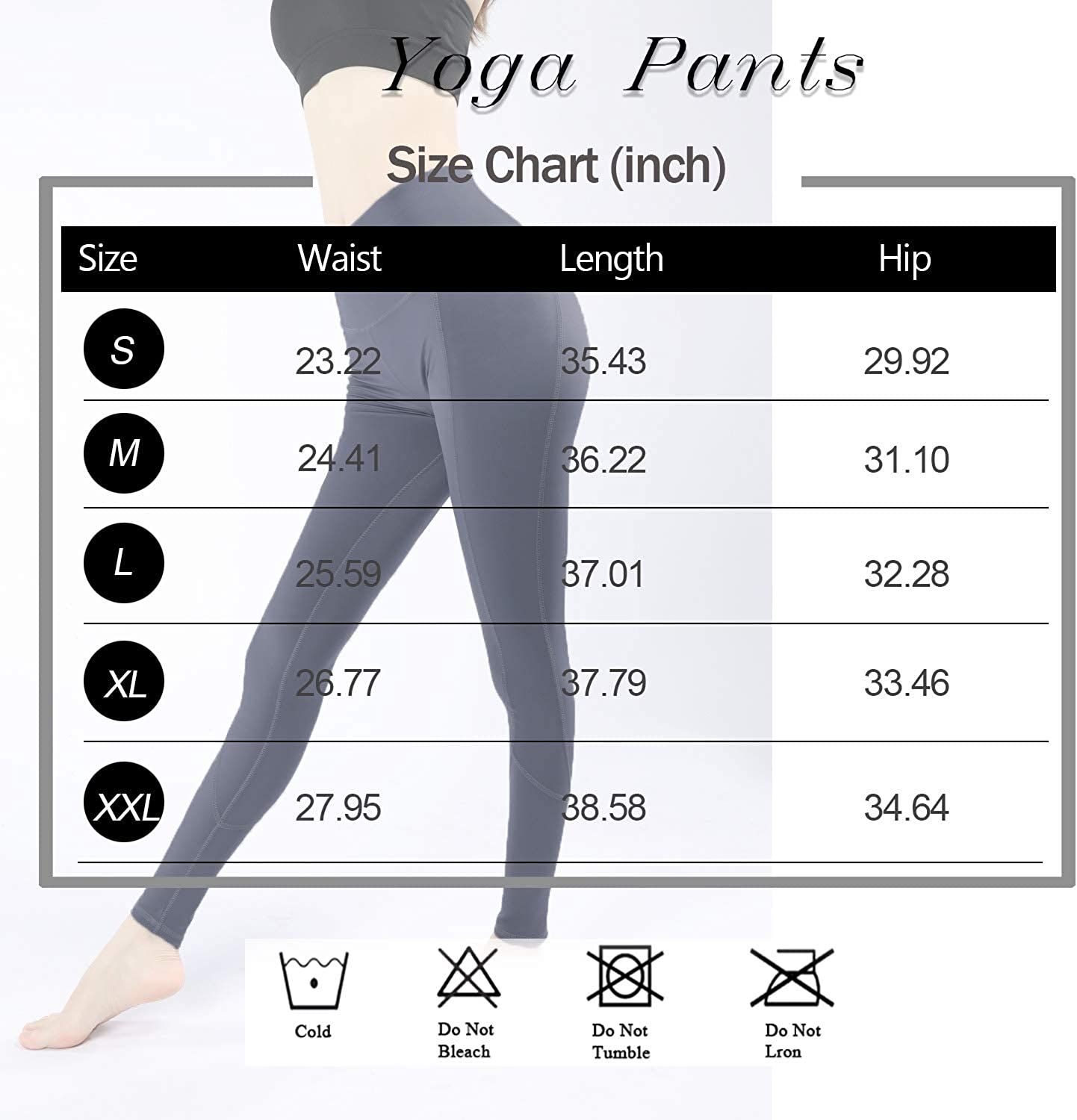 Hirdou High Waist Yoga Pants with Pockets for Women Abdomen Tight Fitting,4 Way Stretch Sports Leggings