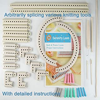 JOYOUSENSS Multi-Function Craft Yarn 5000-100 Knitting Board Crafts Knit and Weave Loom Kit DIY Tool Plastic Suitable for Beginners,Professionals, Seniors, Housewives