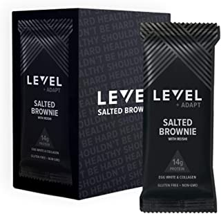Level Foods - 6 Salted Brownie 14g Pure Protein Bars, High Protein, Nutritious Low Carb Snacks, Healthy Food to Support Energy, Low Sugar, Gluten-Free