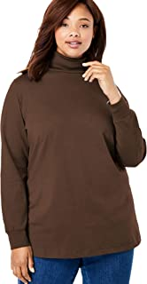 Woman Within Women's Plus Size Perfect Long Sleeve Turtleneck