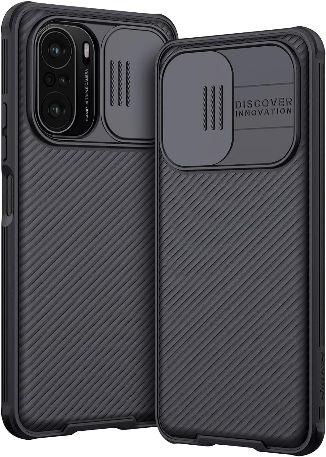 AROYI Funda Compatible con Xiaomi Poco F3/ Xiaomi Mi 11i, Tapa Deslizante para la cámara Funda para Xiaomi Poco F3/Mi 11i / Mi 11X / Mi 11X Pro 5G (6,67 Pulgadas) - Negro