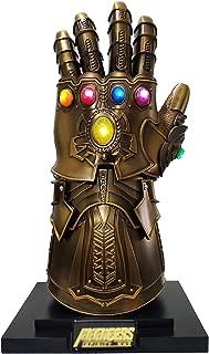 2019 Metal Super Villains Cosplay Infinity Gloves Wearable Gauntlet 1:1 Replica Props Gold