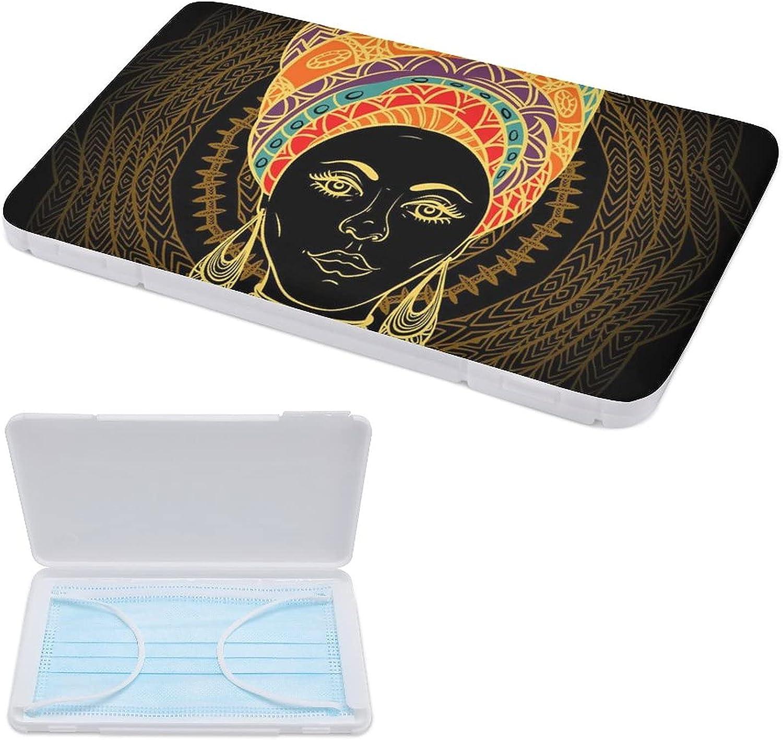 Yuzheng Cajas De Almacenamiento De Mascarillas Mujer Africana Soporte Para Estuche De Mascarilla Desechable 11cmx19cm