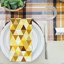 Artzfolio Gold Triangle Table Napkin Satin Fabric 20 X 20Inch; Set of 6 Pcs