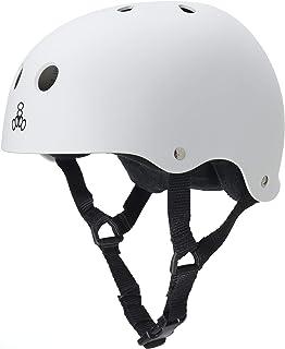 Triple Eight Sweatsaver Liner Skateboarding Helmet, White Rubber, Medium