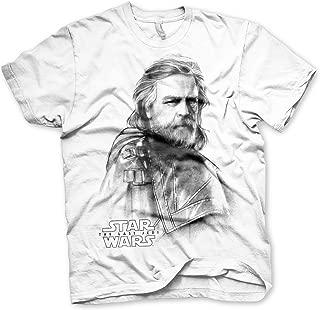 Officially Licensed Last Jedi - Luke Skywalker Men's T-Shirt (White)