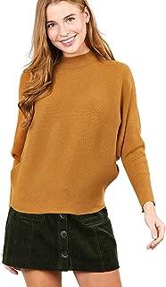 Mirabell Women's Dolman Sleeve Loose Fit Sweater