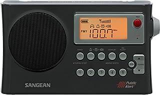 Sangean Portable Digital AM/FM Weather Alert Alarm Clock Radio with Large Easy to Read Backlit LCD Display Built-in Speake...
