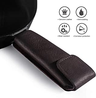 Reebent Good Grips Leather cast Iron Handle Cover (Leather)