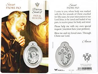 Padre Pio Healing Saint Prayer Card