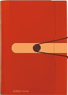 Herlitz 格子文件夹,12 个隔层回收,PP薄膜 橙色