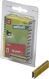 Wolfcraft 7166000 7166000-1200 Grapas de Lomo Estrecho, Tipo 055, 100 x 50 x 50 cm, Set de 1200 Piezas
