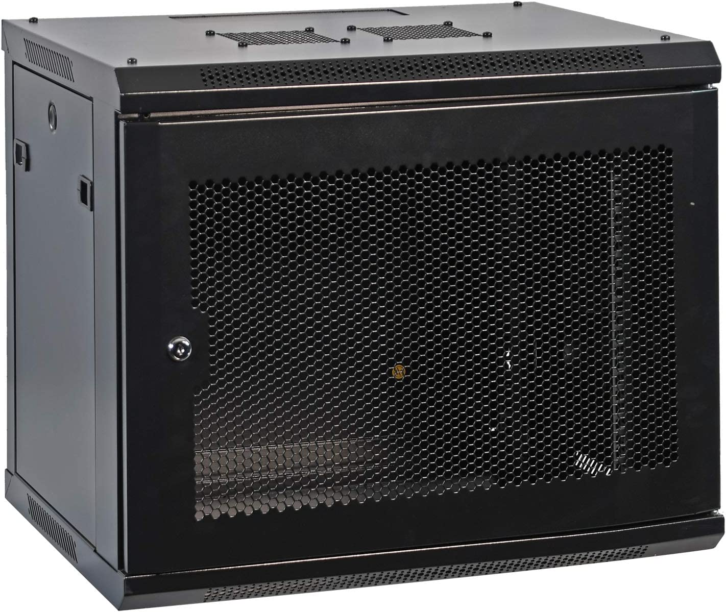 AEONS 9U Professional Wall Mount Network Server Cabinet Enclosure 19-Inch Server Network Rack with Vented Door 16-Inches Deep Black