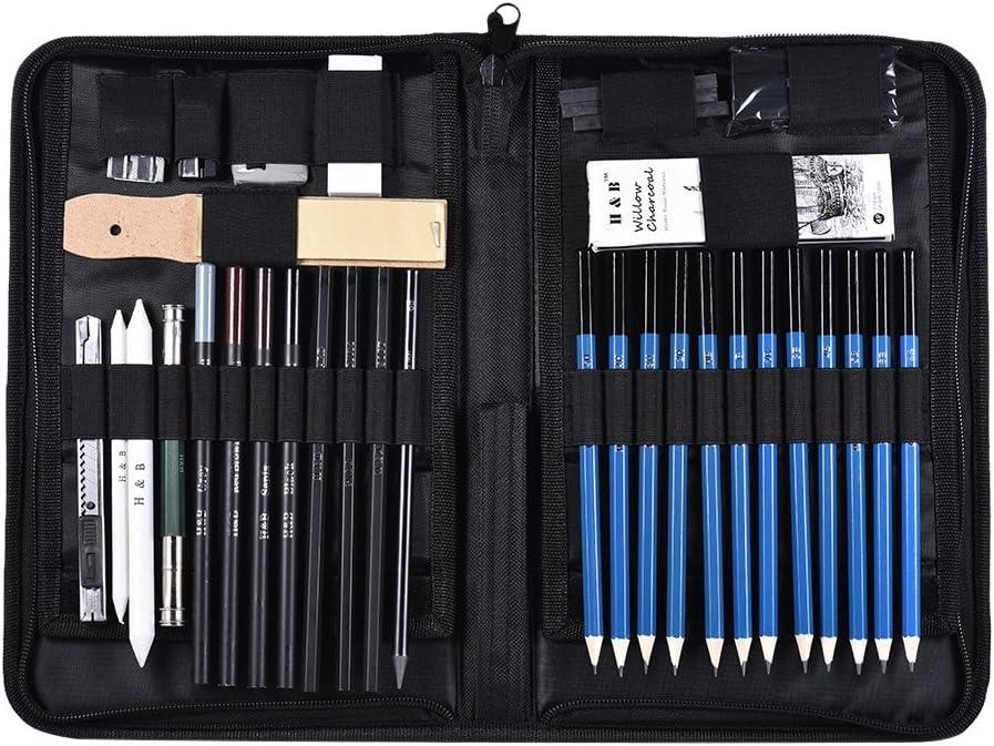 Beacon PET 40PCS Professional El Paso Mall Art Sketching Drawing Max 77% OFF Pencils Set