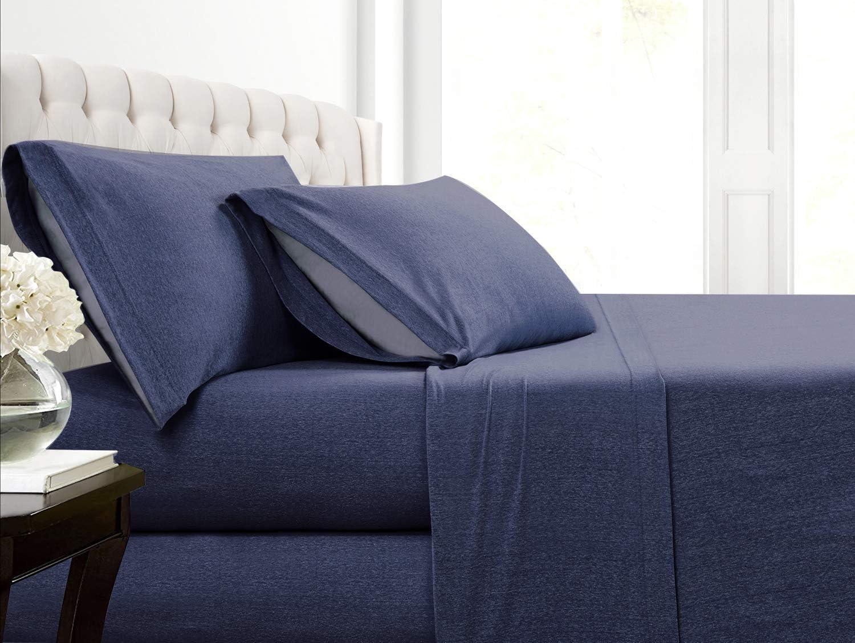Cotton Rich T-Shirt Soft Heather Jersey Sea Set Knit online shopping online shop - Sheet All