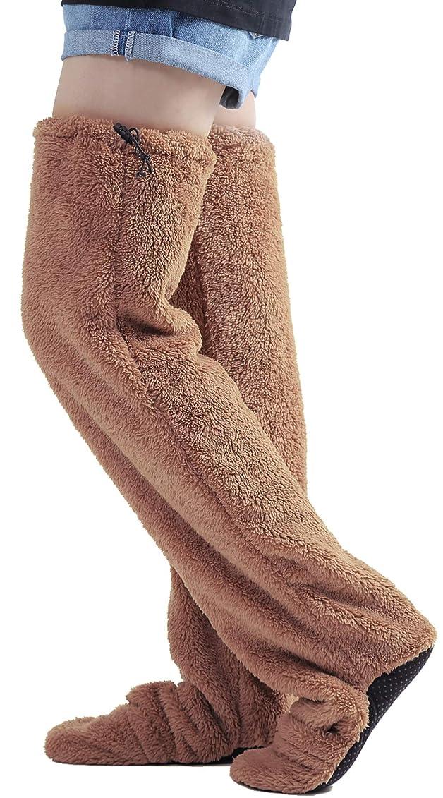 阻害する産地膜nicoly ヒートソックス 歩ける ロングカバー 極暖 ルームソックス 男女兼用 大きいサイズ (L)