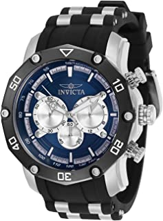 Invicta Men's Pro Diver Quartz Watch with Stainless Steel Strap, Black, 26 (Model: 30078)