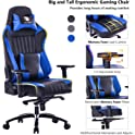 Killabee 8212 Big and Tall 400lb Memory Foam Gaming Chair