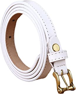 Ayli Women's Skinny Jean Belt, Handcrafted Genuine Leather Belt