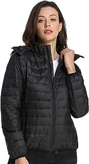 iloveSIA Women's Hooded Winter Down Coat Lightweight Water-Resistant Packable Hooded Puffer Jacket