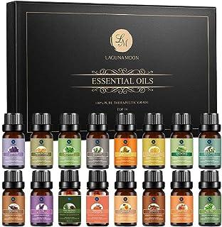 Lagunamoon Aceites Esenciales Top 16 Set de Regalo de Aceites de Aromaterapia Lavanda Eucalipto Hierba de Limón Romer...