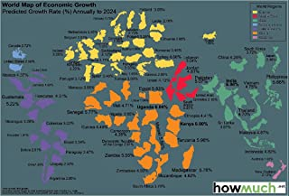 Gifts Delight Laminated 35x24 Poster: Economic Map - This World Map Shows The Economic Growth Over The Coming Decade