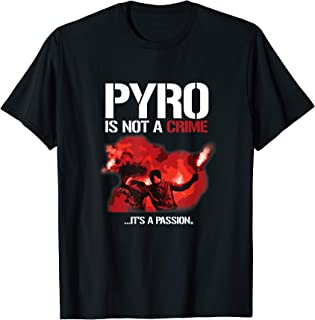 Cooles Pyro Technik ist kein Verbrechen Fussball T-Shirt