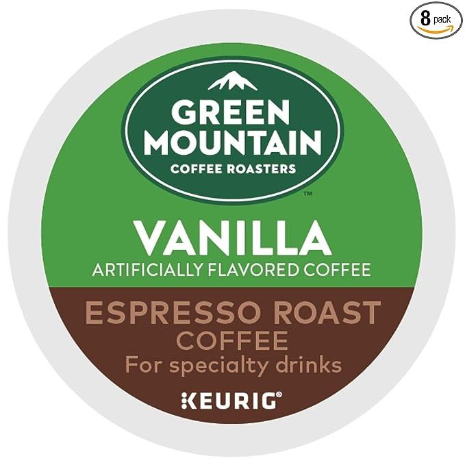 Green Mountain Coffee Roasters Vanilla Espresso Roast, Single-Serve Keurig K-Cup Pods, 48 Count