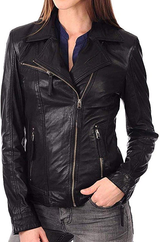 Vintage Lambskin Leather Jacket For Women  Valentine Retro Red Leather Jacket