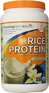 Growing Naturals Rice Prot Pwd Og2 Vanilla 32.8 Oz
