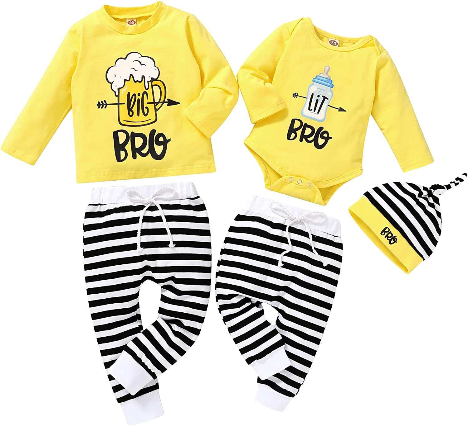 Baby Boy Brother Matching Outfits Little Big Brothe store Newborn Kids Gorgeous