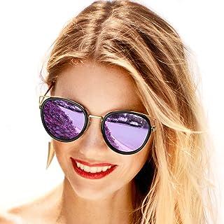 OSVAW Round Cat Eye Style Womens Sunglasses Polarized,...