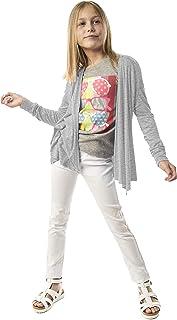 12b06f6be01 KIDPIK Cardigan for Girls – Open Front Spring Summer Sweater w Long Sleeves  in Fuchsia