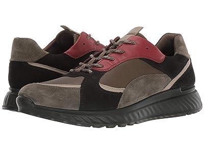ECCO ST1 Trend Sneaker (Tarmac/Sage/Fired Brick) Men