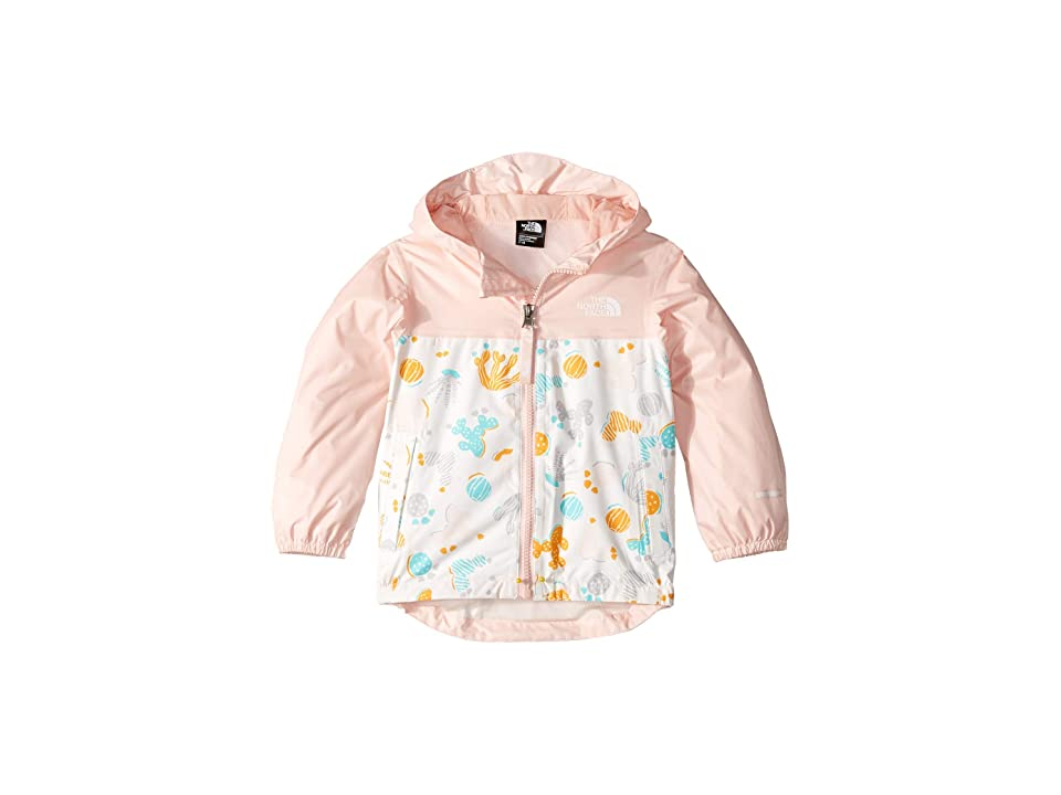 The North Face Kids Zipline Rain Jacket (Toddler) (TNF White Cactus Lino Print) Girl