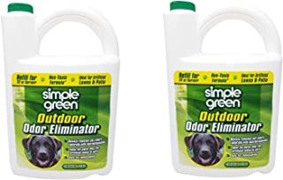 SIMPLE GREEN 432108 Outdoor Odor Eliminator for Dogs, 1 Gallon (2 pack)