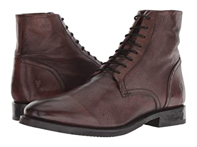 Frye Corey Lace-Up (Dark Brown Goat Dip-Dye) Men