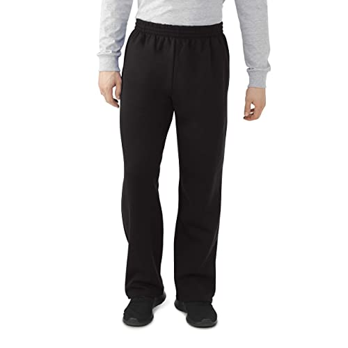 Fruit of the Loom Mens Womens Unisex Classic Open Leg Sweatpants Comfy Joggers